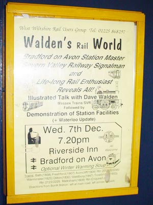 Advert for a talk in Trowbridge