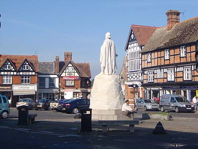 The Statue of Alfred the Great in Wantage Market Place