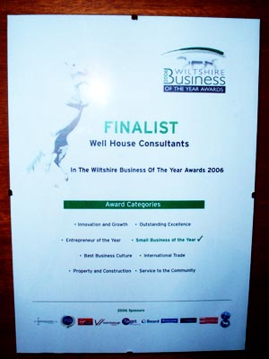 We are finalists - business of the year
