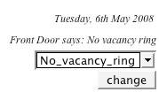 Frontg Door status on the Web
