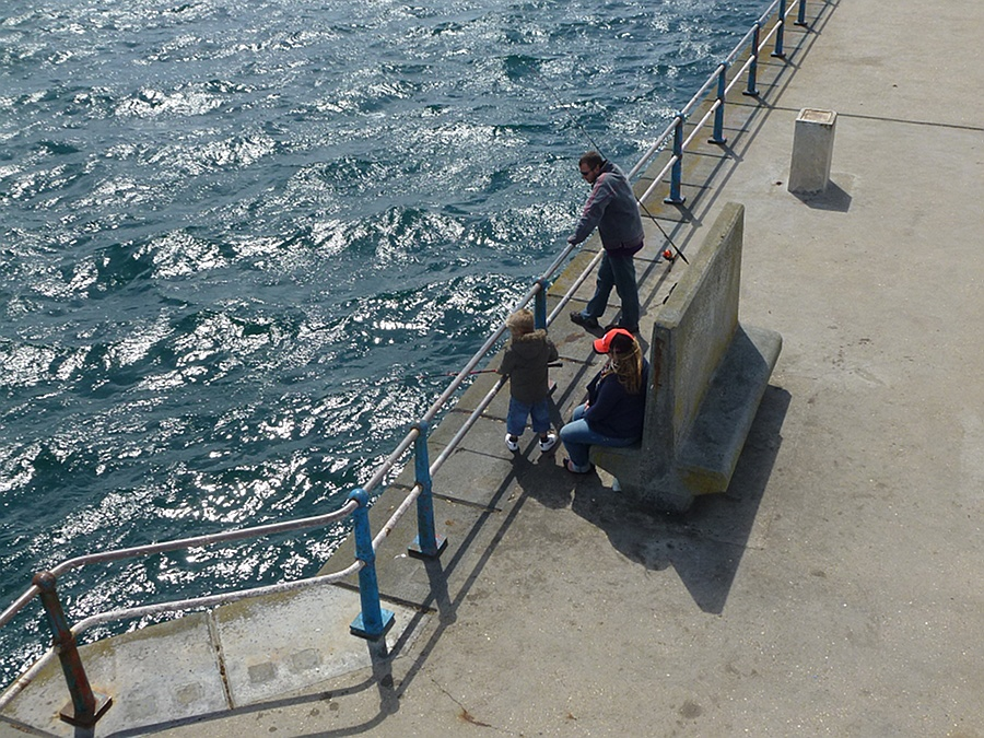Fishing off Weymouth pier