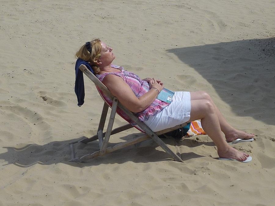 Lazy days on Weymouth beach