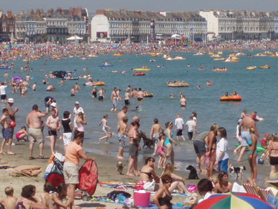 On the beach at Weymouth