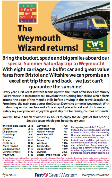 Weymouth Wizard - the GWR poster