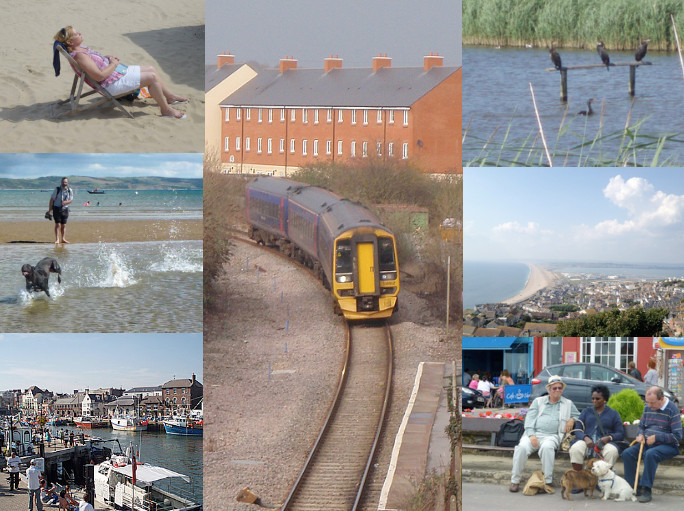 Montage - Melksham to Weymouth day trips