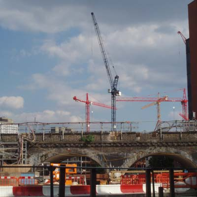 Construction around White City