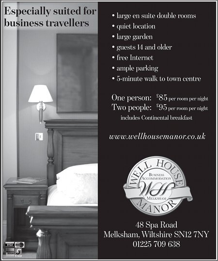 Well House Manor Advert, August 2011
