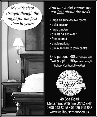 Advert for Well House Manor - Melksham Hotel