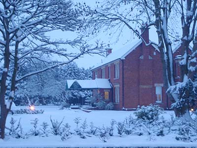 Well House Manor in the Snow