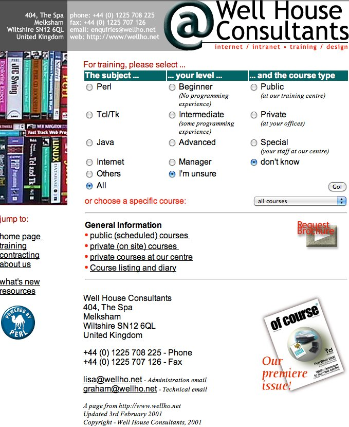 Home Page, 2001
