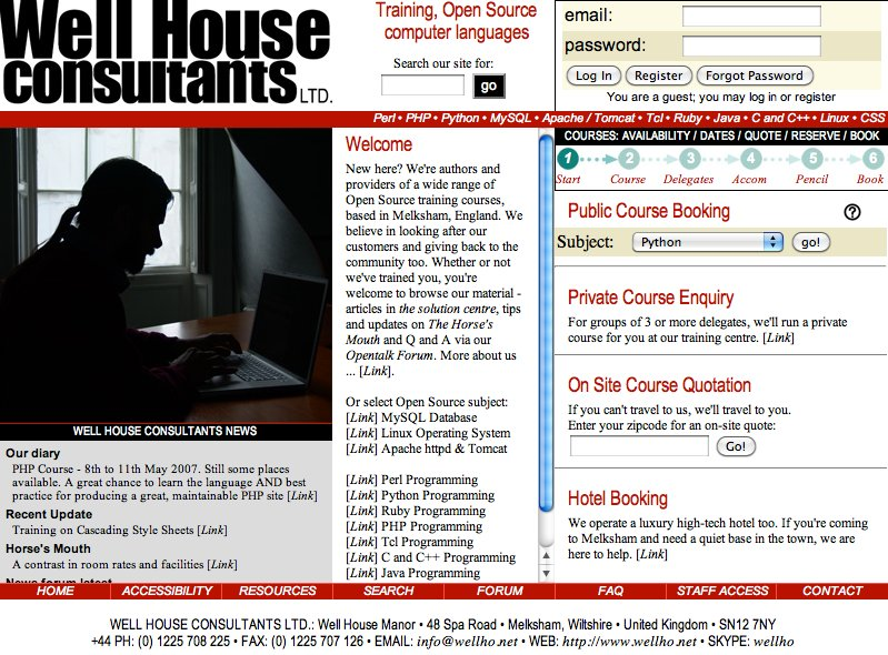 Home Page, 2007