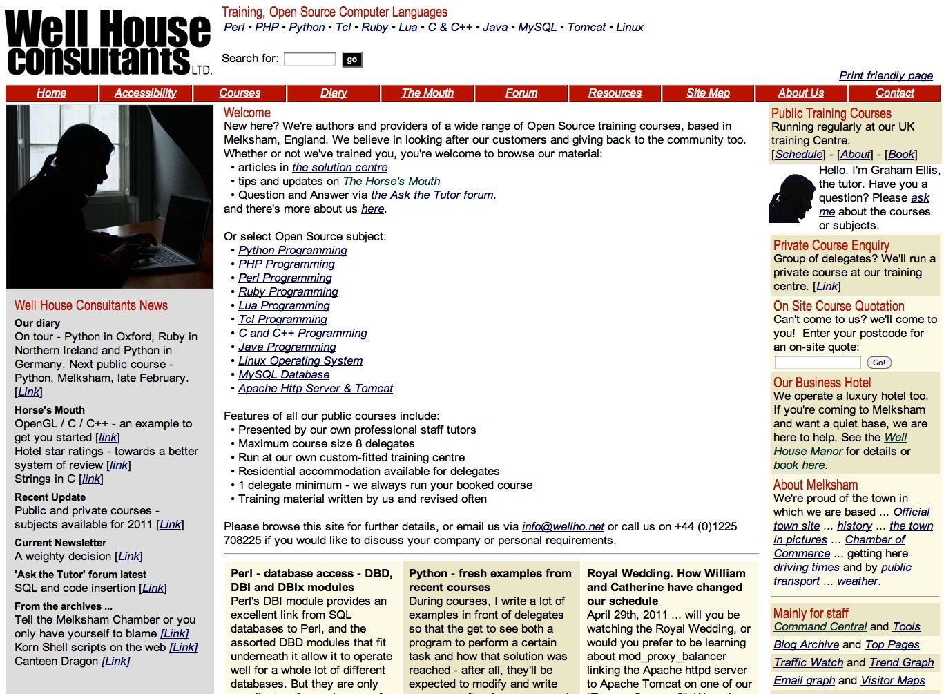 Looking back at www wellho net