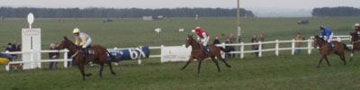 The winning line at Larkhill