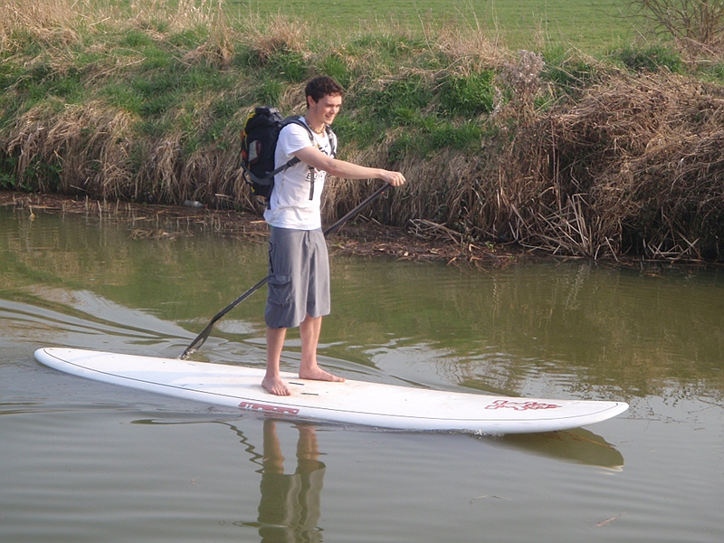 Paddling your own surfboard