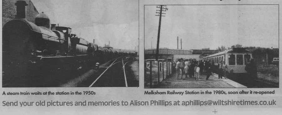 Melksham Station, 30 years apart