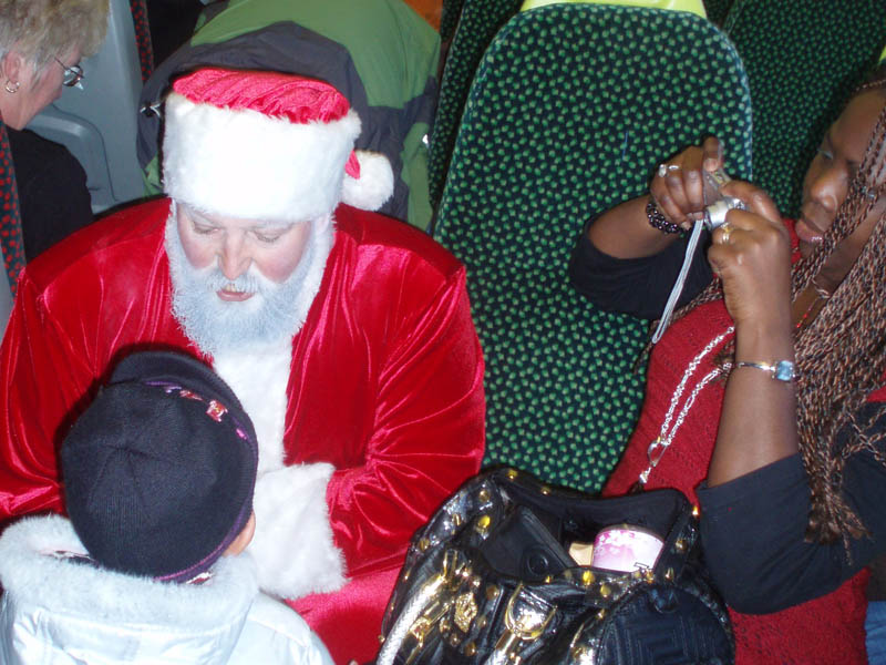 Father Christmas in the Melksham train