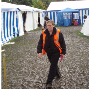 County show - the traditional mud