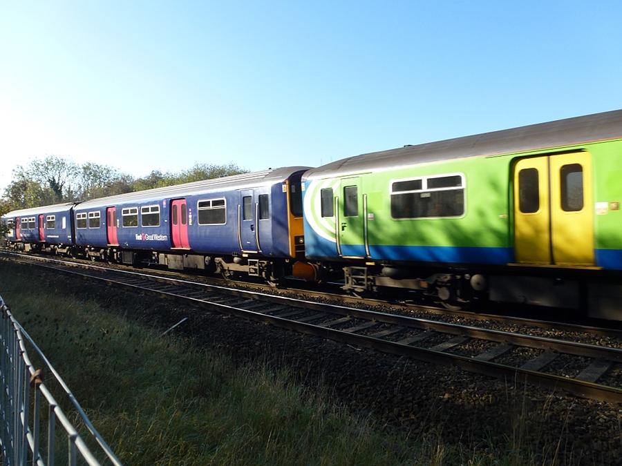 Weymouth to Cheltenham Spa train near Trowbridge