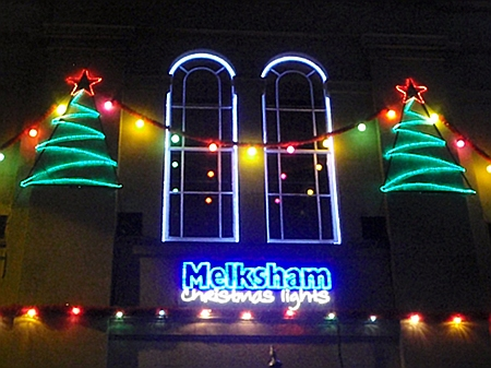 Christmas lights, Melksham