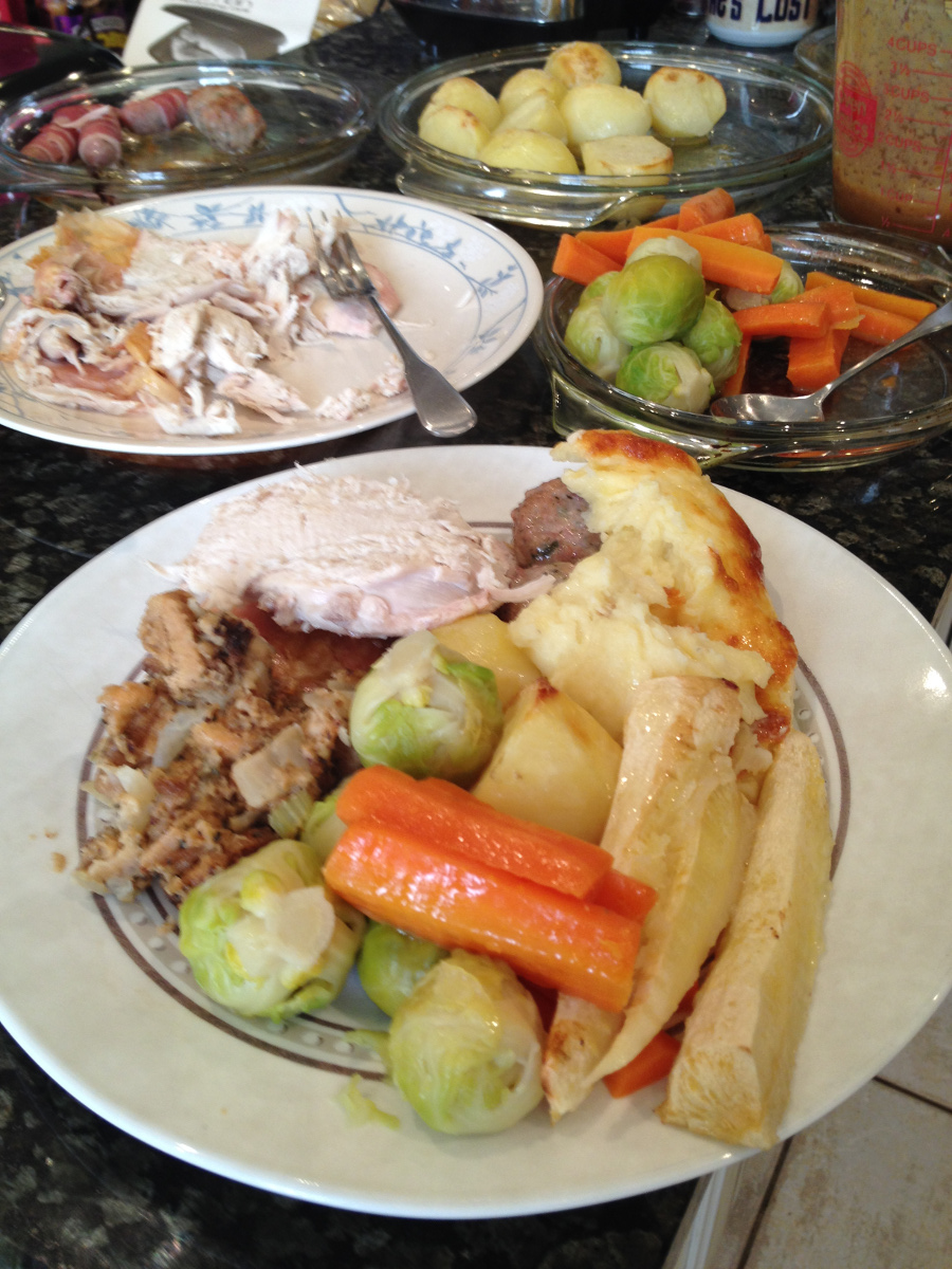 Christmas Dinner!   At home at 404, The Spa, Melksham in 2014