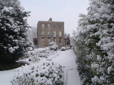 Melksham Spa in the snow