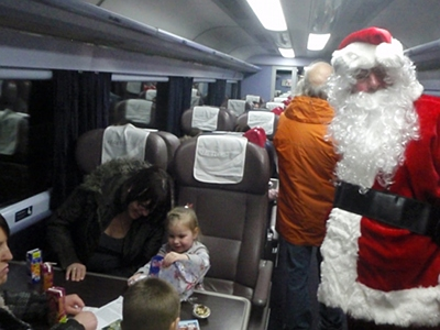 Santa Claus on the Swindon to Melksham train, 5/12/2010