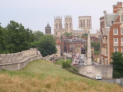 York Minster and Wall