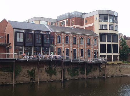 The riverside in York