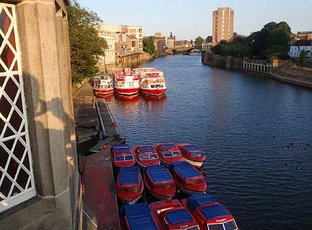 Red boats, river Ouse, York