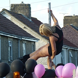 Pole Dancing in the Street in Melksham