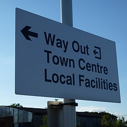 Way out and town centre