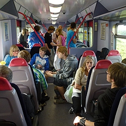 On the Swindon to Weymouth train